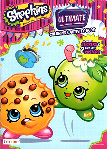 Shopkins Ultimate Coloring & Activity Book Includes Stickers & 2 Posters - 1