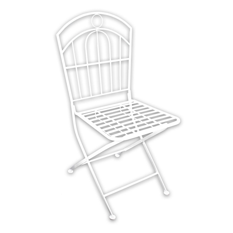 """1x Metall Gartenstuhl """"White Spirit"""" in weiß lackiert für indoor und outdoor günstig"""
