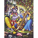 "Dolls Of India ""Krishna Admiring Radha"" Reprint On Photographic Paper - Unframed (34.29 X 26.67 Centimeters)"