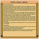 Entièrement en cuivrejaune-brunplafond/éclairage/lustrelampe/luminairedeJadejaune-blanc