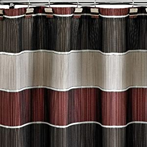 "Amazon.com - MODERN LINE""BURGUNDY""6X6 SHOWER CURTAIN ..."