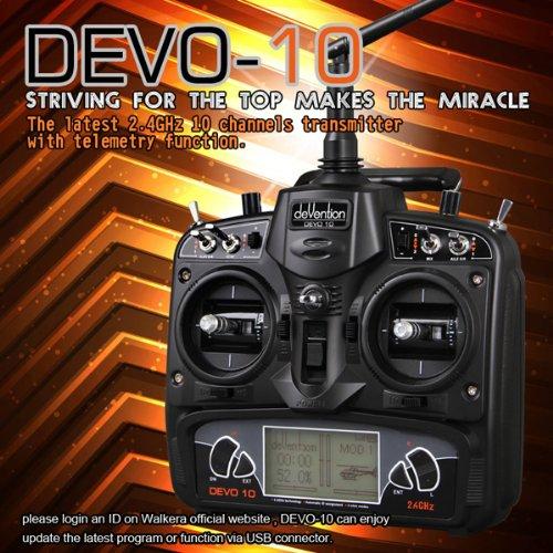Walkera Devo 10 Wk-Devo10 2.4 Ghz 10Ch Transmitter Without Receiver,Mode 2 (Left Hand Throttle)