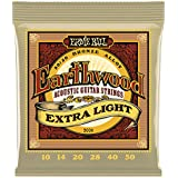Ernie Ball EP02006 Jeu de cordes pour Guitare folk 10-50 Extra Light