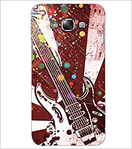 Printdhaba Guitar D-3232 Back Case Cover For Samsung Galaxy A7