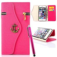 buy S4 Case, Jcmax New Flip [Zipper Feature] Stand Synthetic Leather Wallet Case Cover With Card Holder, Cash Pocket And Wrist Strap For Samsung Galaxy S4