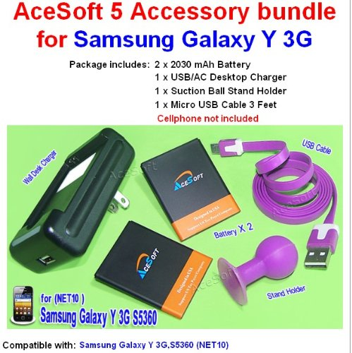 5 Accessory 2x 2030mAh Battery Desktop Charger