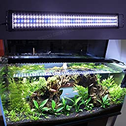 Zeiger Eco Aquarium Hood Led Lighting Fish Lamp Freshwater and Saltwater decorations Light, White and Blue Adjustable 12\