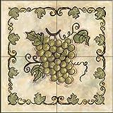 The Tile Mural Store - Sweet Grapes I by Joy Alldredge - Kitchen Backsplash / Bathroom wall Tile Mural