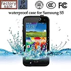 Queens@ Waterproof Water Resistant Case Cover for Samsung Galaxy S5 Sv V I9600 Phone,dustproof Snowproof Shockproof Hard Armor Protective Cover Case for Samsung Galaxy S5 Sv V I9600 ( 0-samsung S5 Waterproof black)