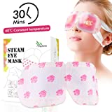 Natural Warming Steam Eye Mask for Reducing Eye Stress and Puffy Eyes, Relieving Eyes Fatigue Convenient Sleep Eye Mask for Travel Working Relaxing Women and Men 10 Units/Box (Tamaño: 1 pack)