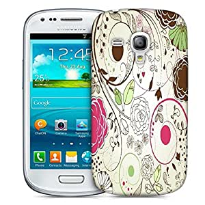 Snoogg Retro Floral Background Designer Protective Back Case Cover For Samsung Galaxy S3 Mini