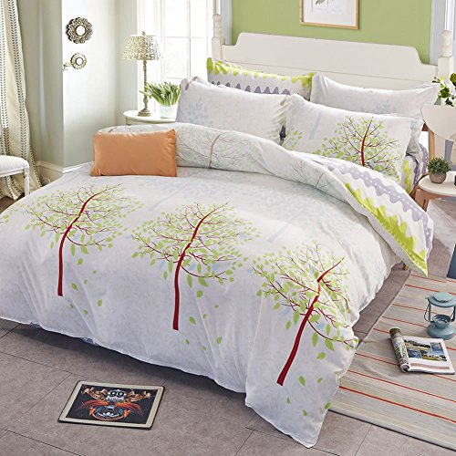 Uozzi Bedding 3 Piece Duvet Cover Set King, Reversible Printing with Brushed Microfiber, Lightweight Soft, Comfortable , Durable (White, King) (Allergy Duvet Cover King compare prices)