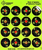 "25 Pack - (400) 2"" ""Stick & Splatter"" Adhesive Splatterburst Target - Instantly See Your Shots Burst Bright Florescent Yellow Upon Impact!"