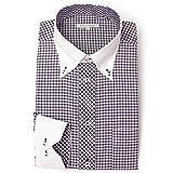 DRESS CODE 101 【スリム】 クレリック ボタンダウン ドレスシャツ 襟高デザイン 長袖ワイシャツ 白 メンズ 長袖 ワイシャツ Yシャツ SHIRT-4007-3L