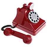 MonkeyJack Retro Plastic Simulation Phone Coins Banknotes Saving Pot for Kids Gift Red (Color: Red, Tamaño: as described)