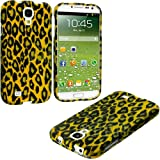 myLife (TM) Yellow Leopard Spots Print Series (2 Piece Snap On) Hardshell Plates Case for the Samsung Galaxy S4