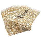 """100 Gold Paper Gift Bags Shopping Sales Tote Bags 4 x 6"""""""