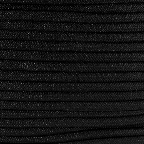 Rothco Type III Commercial Paracord (Black, 550-Pound/50-Feet)