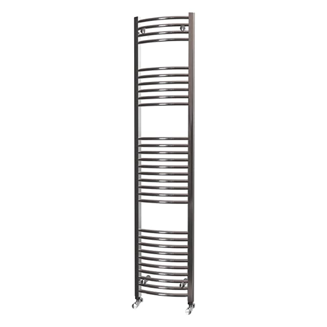HB Essentials Zeno cromato curvo scaletta Portasalviette, Acciaio, Chrome, 1800mm x 400mm Central Heating