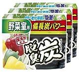 【まとめ買い】 脱臭炭 野菜室用 脱臭剤(炭ゼリー 140g エチレン吸着剤 2g)×3個