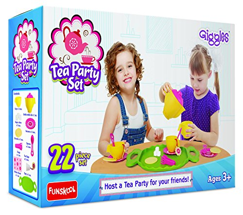 Giggles Tea Party Set, Multi Color
