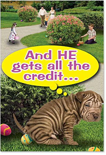 NobleWorks-0019-He-Gets-All-The-Credit-Funny-Easter-Unique-Greeting-Card-5-x-7