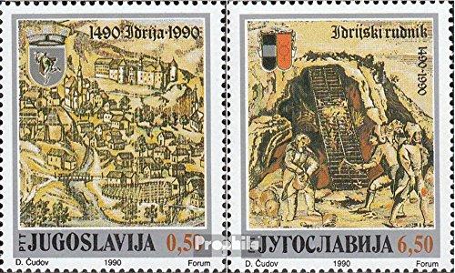 Jugoslawien 2430-2431 (kompl.Ausg.) postfrisch 1990 Quecksilberbergwerk (Briefmarken für Sammler)