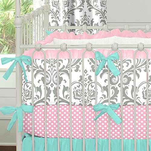Pink And Teal Baby Bedding 179221 front