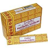 Encens Goloka Nagchampa Agarbathi - 12 boîtes Parfum Nag Champa Bâtonnets d'encens indiens