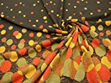 【 安心の日本製 】【 1パネル ( 106cm巾×73cm ) 1,000円 高級有名ブランド使用生地◆日本製 モダンドット柄 ニット 生地 服地 ★ こげ茶×オレンジmix ★ スカート   トップス   ベスト   ファブリック 等にオススメです