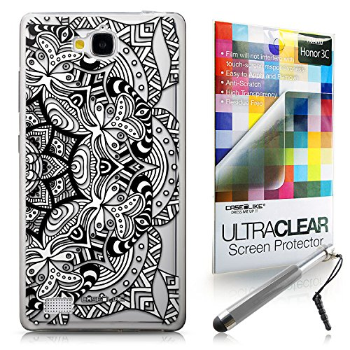 Click to buy CASEiLIKE Mandala Art 2096 Ultra Slim Bumper Snap-on case back cover for Huawei Honor 3C +Screen Protector +Retractable Stylus Pens (Random Color) - From only $65.99