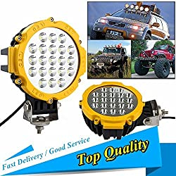 See 1Pcs 63W LED Work Light Spot Flood Beam OFFROAD Jeep BOAT SUV CAR CIRCLE 6.5INCH Details