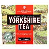 TAYLORS OF HARROGATE YORKSHIRE TEA BAGS 80