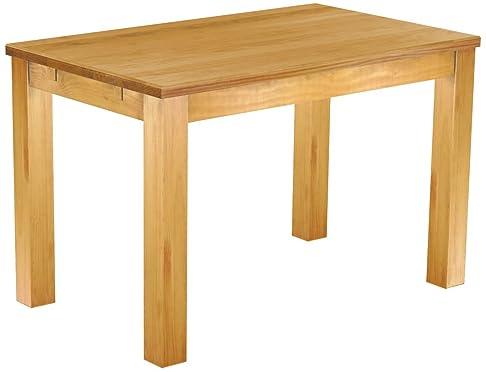 Tavolo da pranzo, in legno di pino massiccio 120x 73cm Honey