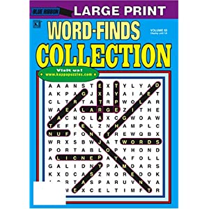 Blue Ribbon Word Finds - Large Print