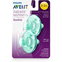 2-Pack Philips Avent SCF190/01 Soothie 0-3mth Green/Green