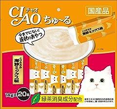 チャオ (CIAO) CIAOちゅ~る とりささみ 海鮮ミックス味 14g×20本入り