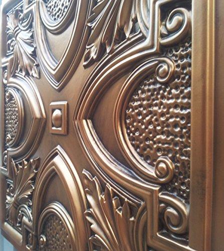 PL11peint imitation cuivre antique plafond Panneaux muraux décoration carrelage 3D en relief Cafe Pub Shop Art 10pieces/Lot