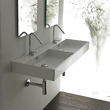 Unlimited 120 Wall-mount or Countertop Bathroom Sink (With Faucet Hole)