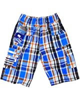 Boy's Modern Check Combat Fashion Summer Board Shorts sizes 3-12 Years
