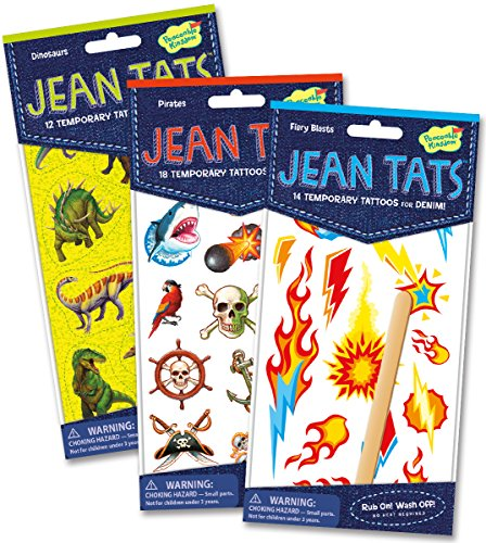 Peaceable Kingdom Jean Tats Crazy Cool of Temporary Tattoos for Fabric