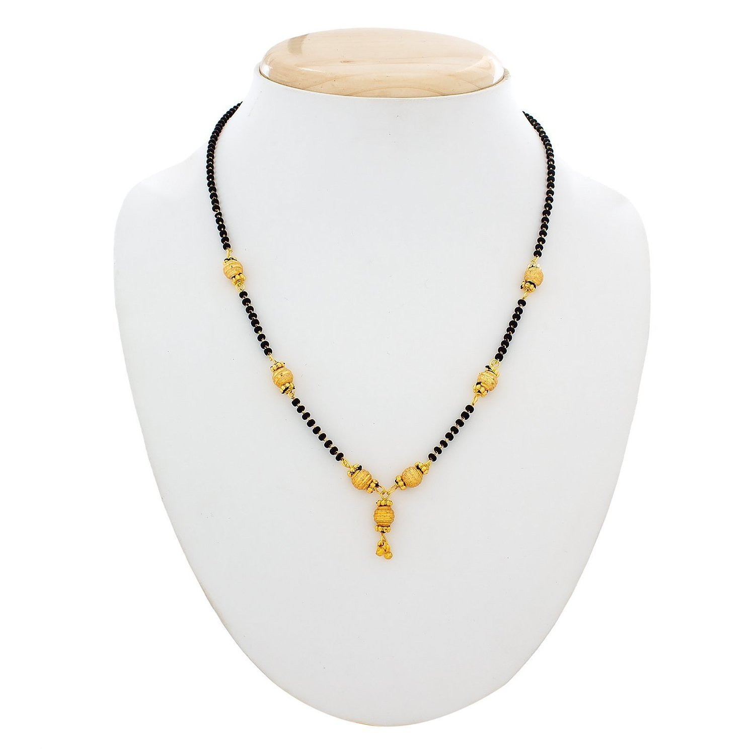 Combo of 3 Gold Plated & American Diamond Mangalsutra Necklace for Women-Life Keep Teaching