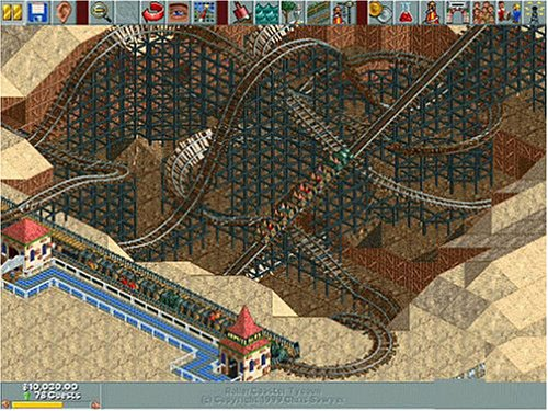 how to raise park rating in roller coaster tycoon