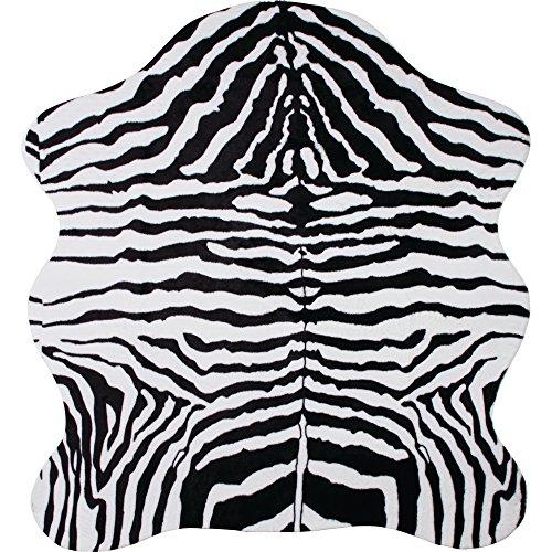 "B&F HHRUGZ Classic Safari 56"" x 61"" Zebra Print Rug"