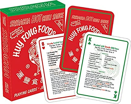 Sriracha Recipe Playing Cards