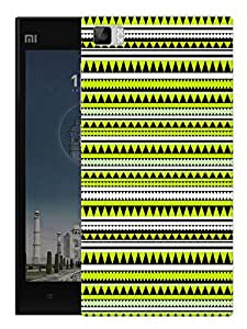 """Green Aztec Ethnic Print Printed Designer Mobile Back Cover For """"Xiaomi Redmi MI3"""" By Humor Gang (3D, Matte Finish, Premium Quality, Protective Snap On Slim Hard Phone Case, Multi Color)"""