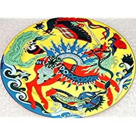 Unicorn (21 cm, fondo de colour amarillo) - BOPLA! Porcelana plato - Petite ASSIENTE - llano Piccolo - Small Plate - plato POSTRE DE diámetro 21 cm, 8-1/4 extramatrimonial como plato, plato DE postre, plato DE postre, platos DE ensalada, plato para el BOL, BEILAGEN-TELLER etc, peso: 364 G
