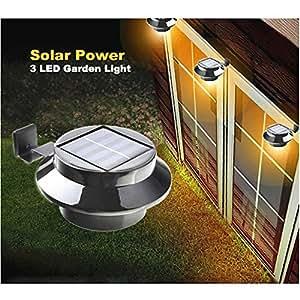 3leds Smart Led Solar Gutter Light Outdoor Security Light Warm W