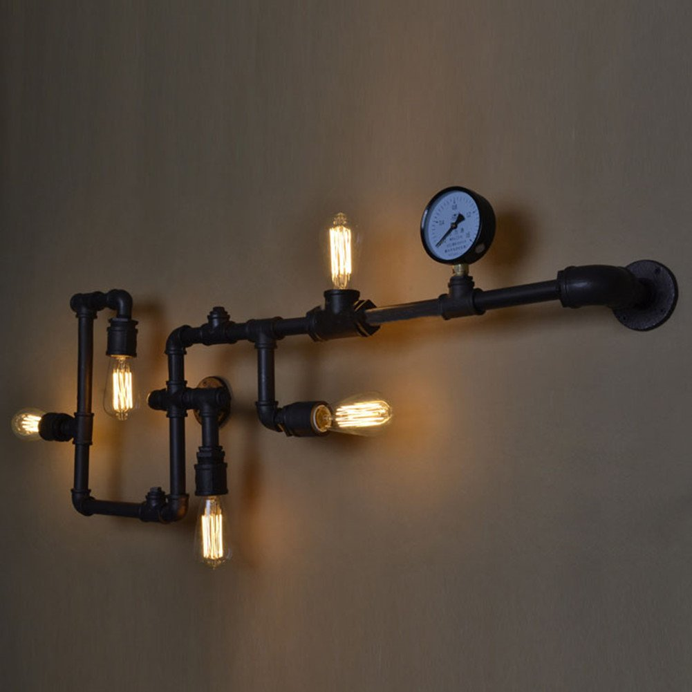 Steam Punk Water Pipe Wall Light