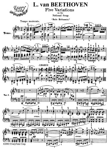 Beethoven 5 Variationes on the National Song